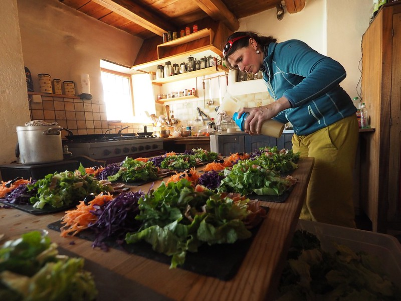 Ricou kitchen -  The Ricou is perhaps the most rustic of the Clarée huts, with alpine charm