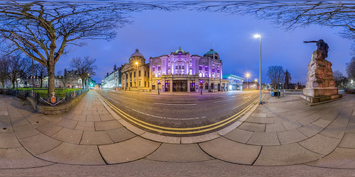 panorama building history statue architecture night canon eos scotland infinity 360 william panoramic architect aberdeen stmarks centrallibrary 6d virtualtour equirectangular photosphere hismajestystheatre darrenwright dazza1040