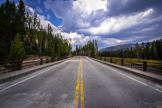 Street across the Lewis River - Yellowstone National Park - Wyoming