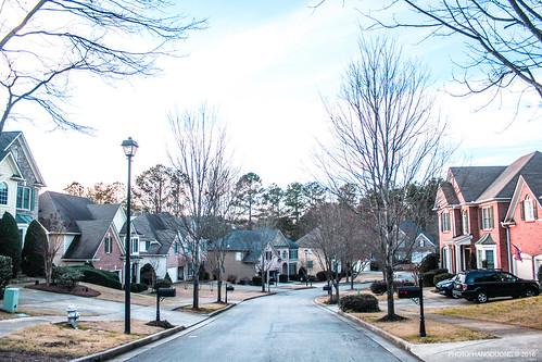 trees atlanta winter usa cold landscape cool pavement hill sugar buford