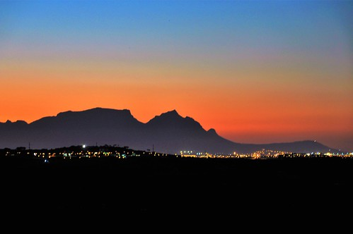 blue light sunset red sky orange mountain nature night air
