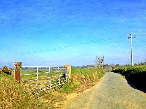 ireland irish rural landscape gate cork telegraphpole htt iphone5 meelin distressedfxapp telegraphtuesday