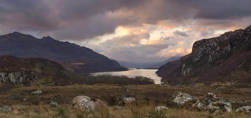 sunrise dawn scotland highlands moody scottish roadtrip panoramic loch stitched lochmaree westernross nikon18105mm nikond7000 northcoast500 nc500
