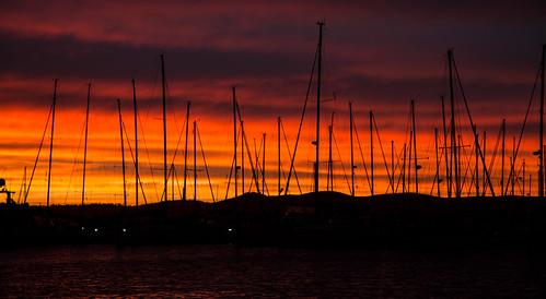 morning water clouds marina sunrise boats tasmania yachts