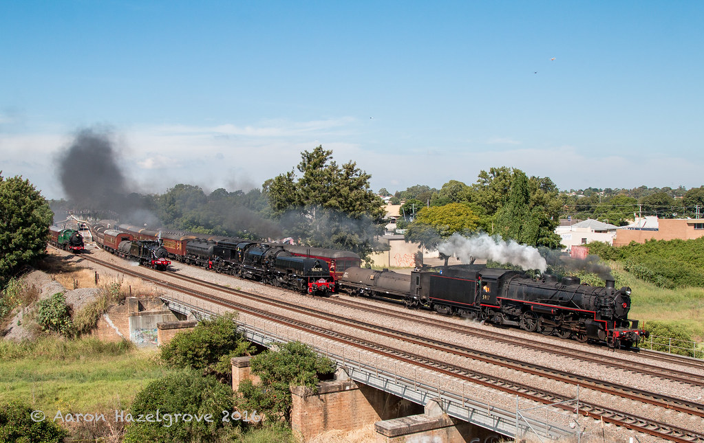 The Great Train Race at East Maitland by AaronHazelgrove01