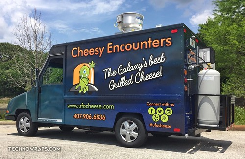 Food truck vehicle wrap by TechnoSigns
