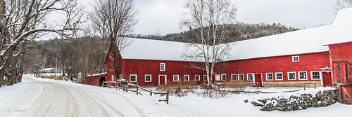 Barn and Road in Winter   by Tim_NEK