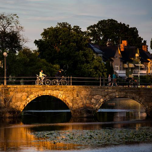 bridge sunset summer night se sweden outdoor bikes sverige bro scandinavia solnedgång örebro svartån örebrolän canoneos5dmarkiii canonef70200mmf28lisiiusm