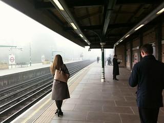 Fog at East Putney station   by Dmitry Dzhus