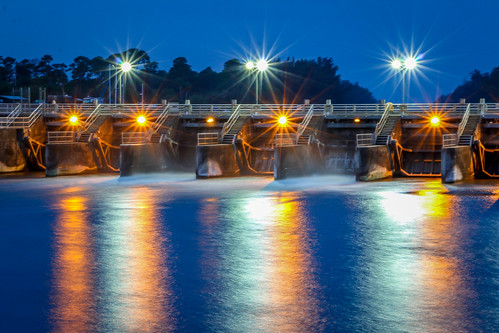 usa seascape reflection night landscape lights colorful florida dam stuart sparkle reflect sparkling stlucielockdam