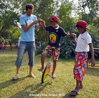 Day of Fun unicycle training