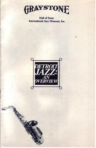 "Cliff Coleman & Jim Ruffner: ""Detroit Jazz: An Overview"" Pamphlet"