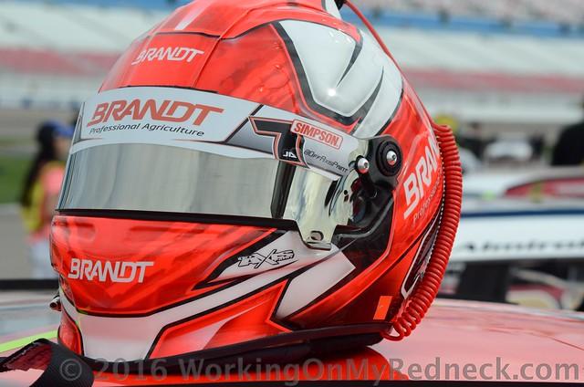 Justin Allgaier's helmet