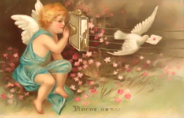 Vintage Valentine Sending a Card