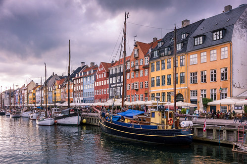 city trip travel summer tourism architecture clouds port buildings copenhagen denmark boats photography evening nyhavn site europe cityscape colours pentax capital sightseeing newport scandinavia k5 citybreak pentaxk5ii pietkagab piotrgaborek