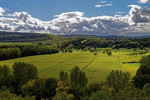 Paysage vallée du Lot