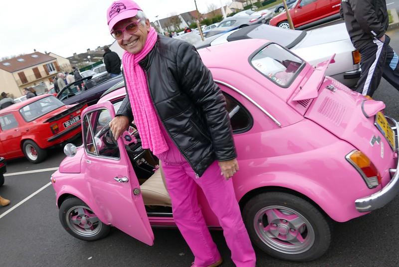 """Fiat """"pink"""" 500 - Rambouillet (78) Dim 21 Février 2016 25056890622_a837ac7885_c"""
