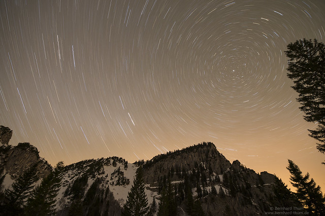 Star trails over Probstenwand