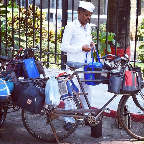 Dabbawala ('one who carries a box'), Mumbai, India 57/365 #project365 #365 #mumbai #india #dabbawala   by Scott McLeod