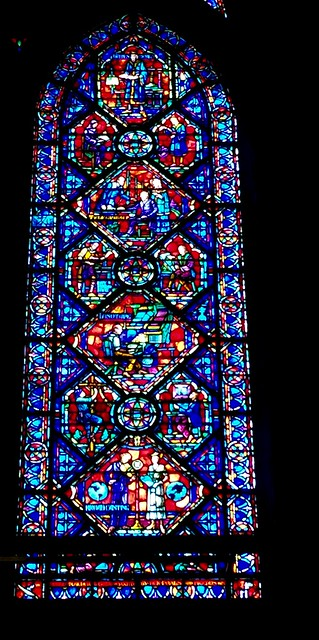 Jack Benny in stained glass