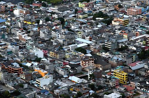 city houses buildings ecuador colorful birdseyeview baños