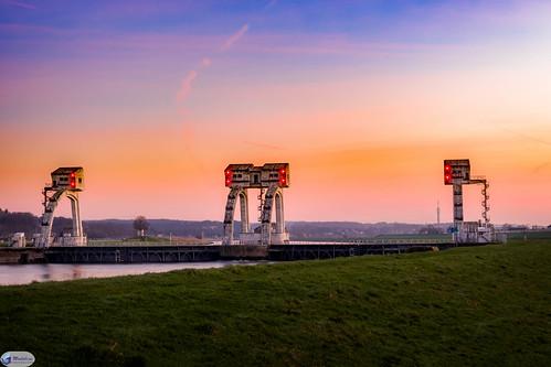 europa europe nederland thenetherlands nl gelderland driel stuwcomplexdriel