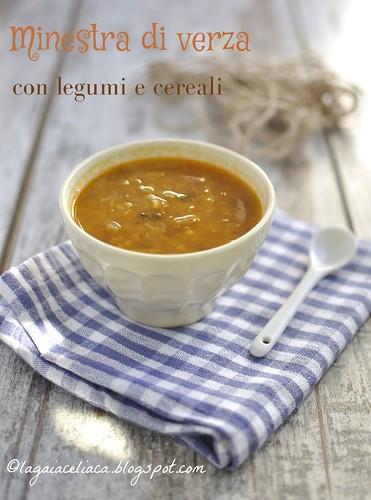 Minestra con verza, cereali e legumi (senza glutine) | by mammadaia