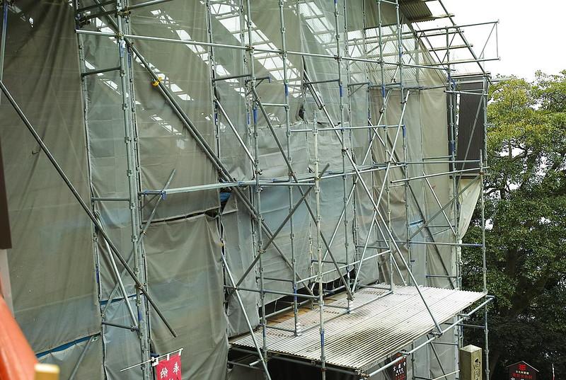 宝厳寺観音堂工事中