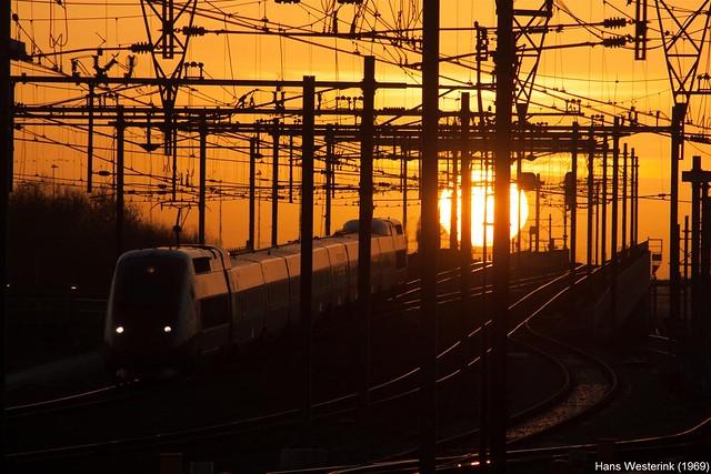 Thalys naar Amsterdam bij Hoofddorp
