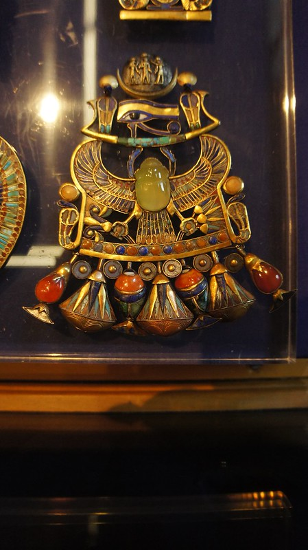 Ancient Egyptian deity Khepri  amulet in King Tut's Collection