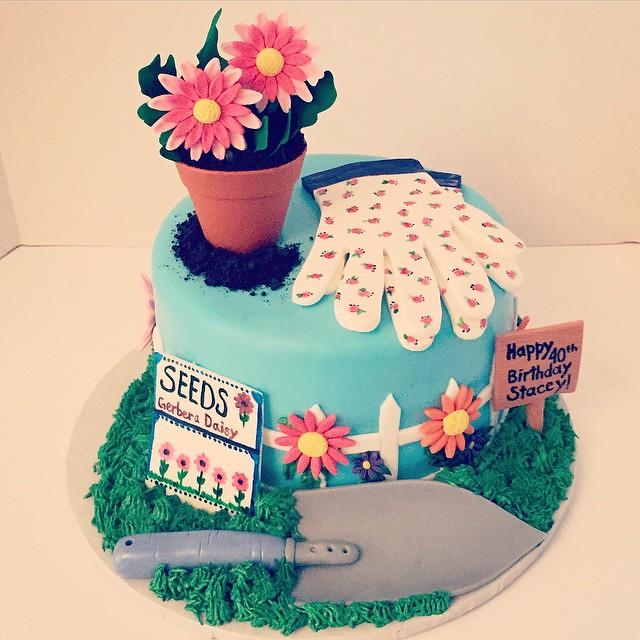 Happy 40th Stacey Gardencake 40thbirthdaycake Birthday Flickr