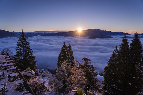winter snow clouds sunrise switzerland ticino lugano cademario