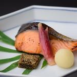 Grilled Salmon with Saikyo miso