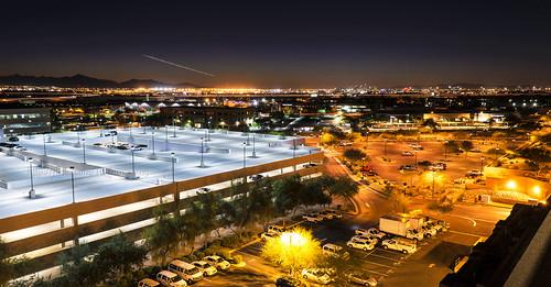 longexposure arizona sky phoenix harbor airport downtown glow desert az glowing skyharbor skyharborairport