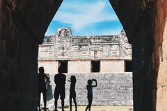 Tourists at Uxmal
