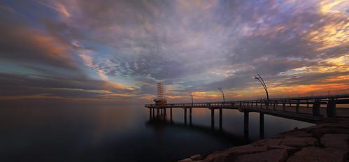 longexposure sunset sky panorama ontario canada burlington tripod lakeontario lifeng canon5dmarkiii brantstreetpier 2470mmf28lii sunsetatbrantstreetpier