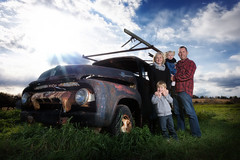 Ante Family with Old Truck