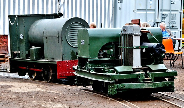 Railways, Alan Keef open day - Motor Rail Simplex 0-4-0 & Baguley Cars 2ft. gauge 0-4-0