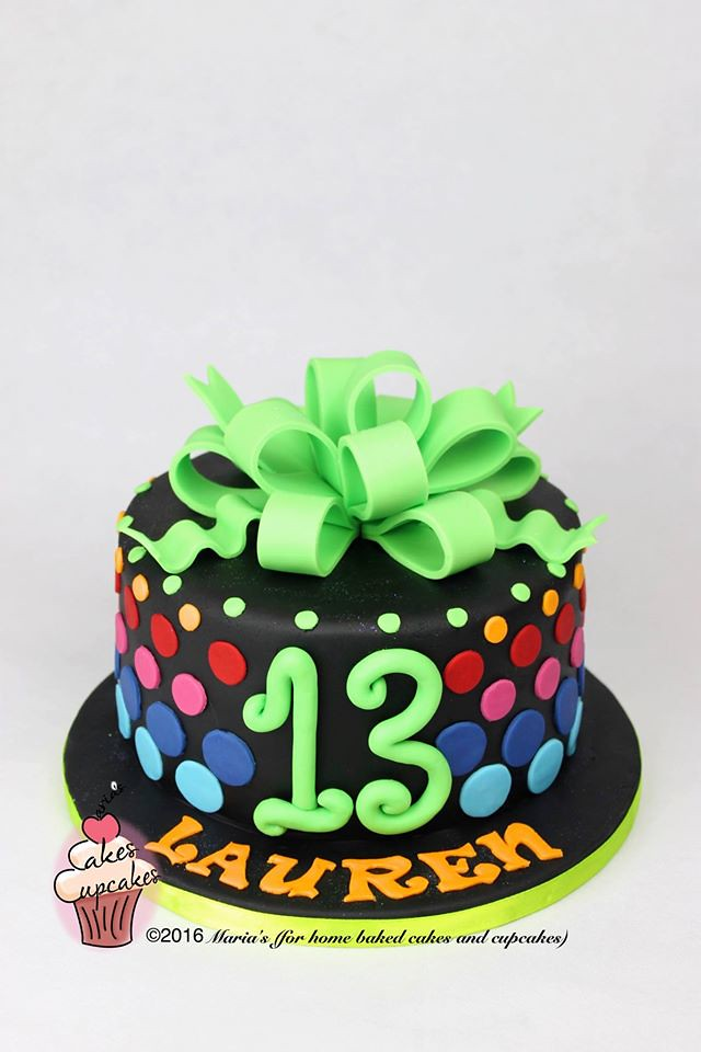 Terrific 13Th Birthday Cake Marias Cakes Flickr Funny Birthday Cards Online Eattedamsfinfo