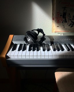 Noodling About on Digital Keys :: #piano #keys #light #shadow #headphones #chill #afternoon | by Peter Alfred Hess