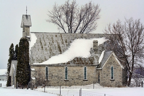 old winter snow abandoned church prerestoration