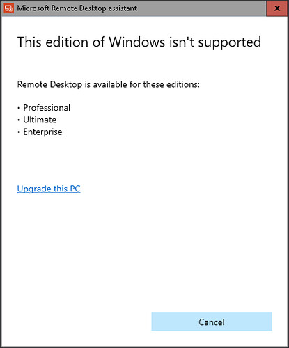 windows 10 home rdp