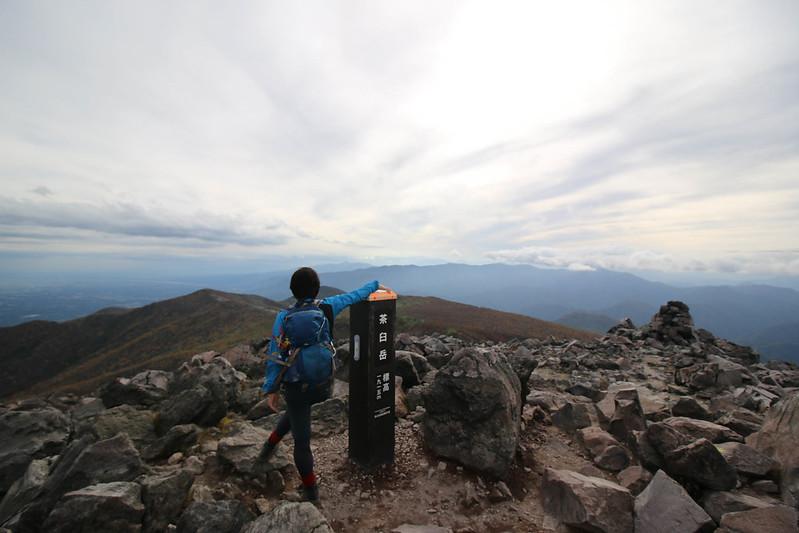 那須岳の茶臼岳山頂