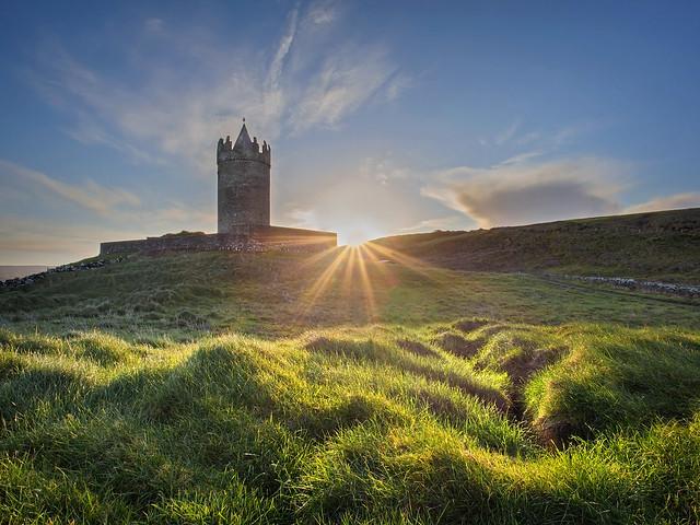 Sunrise at Doonagore Castle