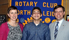 This year's winner of the $1000 Parker Scholarship for a Wake Tech student was Khaled Ali. With Khaled in the photo is Stephanie Lake who is Senior Director of Foundation Relations & Administration.