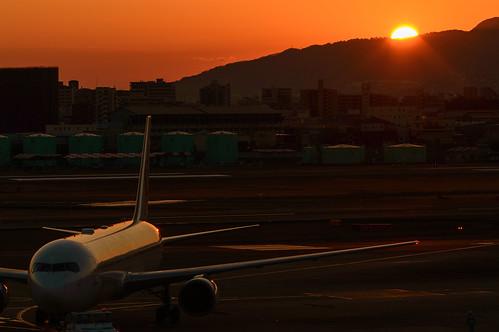 sunset japan 夕景 豊中市 伊丹空港 大阪府
