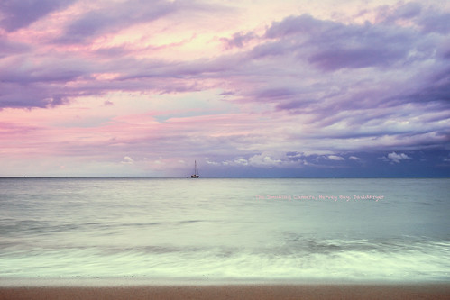 sunset sky art image magenta australia queensland colourful herveybay