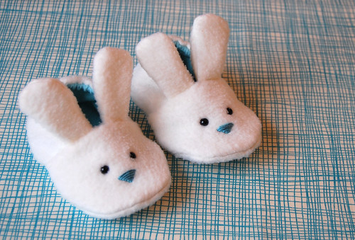 Bunny slippers baby booties for boys