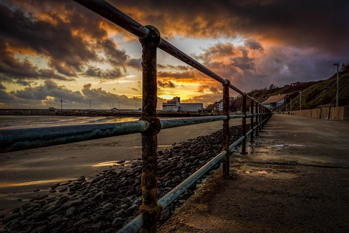 winter sunset sea england water clouds kent nikon rocks harbour path railings folkestone lr6 d7100 topazadjust topazclarity sigma1750f28exdcoshsm