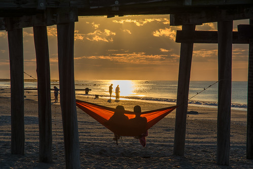 beachsunrise hammock oceancity oceancitynj beach sunrise dawn people jersey yextnewjersey